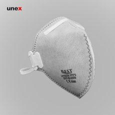 ماسک سوپاپ دار کربن اکتیو HY8236، بست – BEST، ماسک های سوپاپ دار، طوسی، چینی