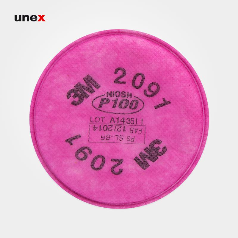 پد ماسک ۲۰۹۱ اصلی، تری ام – ۳M، فیلتر، صورتی، آمریکایی