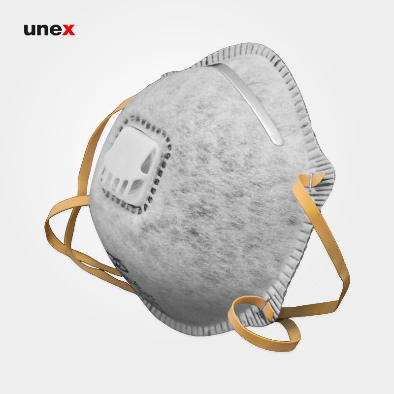 ماسک سوپاپ دارکربن اکتیو HY8816 N95، ابزار ایمنی شهپر، ماسک های سوپاپ دار، طوسی، چینی