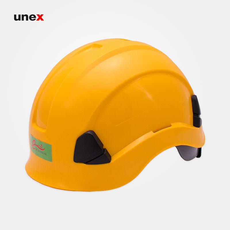 کلاه ایمنی کار در ارتفاع، یورواستار – EUROSTAR ، ای بی اس – ABS، زرد، سفید، آمریکایی