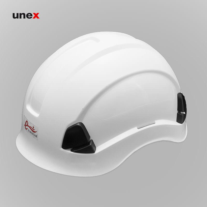 کلاه ایمنی کار در ارتفاع، یورواستار - EUROSTAR ، ای بی اس - ABS، زرد، سفید، آمریکایی