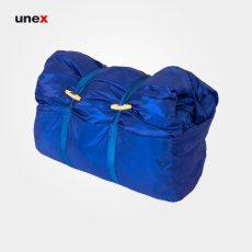 کیسه خواب هلال پشت پلاستیکی آبی