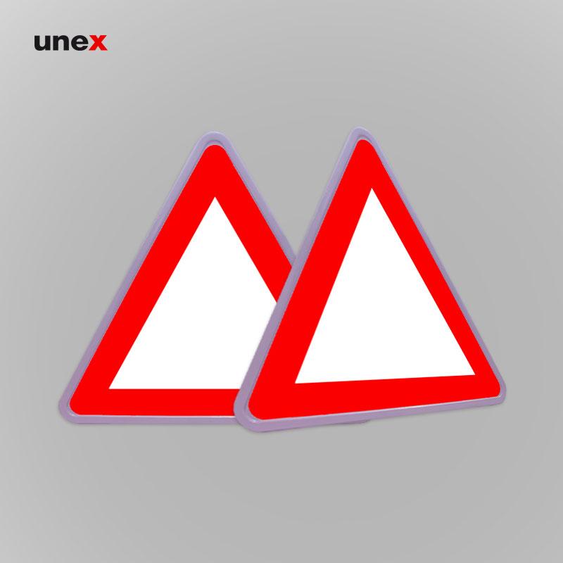 تابلو ایمنی هشدار دهنده مثلث فریم دار