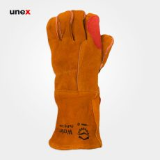 دستکش هوبارت طرح آمریکایی سیم دوز ورکر – WORKER، ابزار ایمنی شهپر، دستکش چرمی، خردلی،  ایرانی