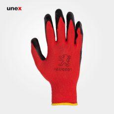دستکش کف مواد پژو مشکی قرمز