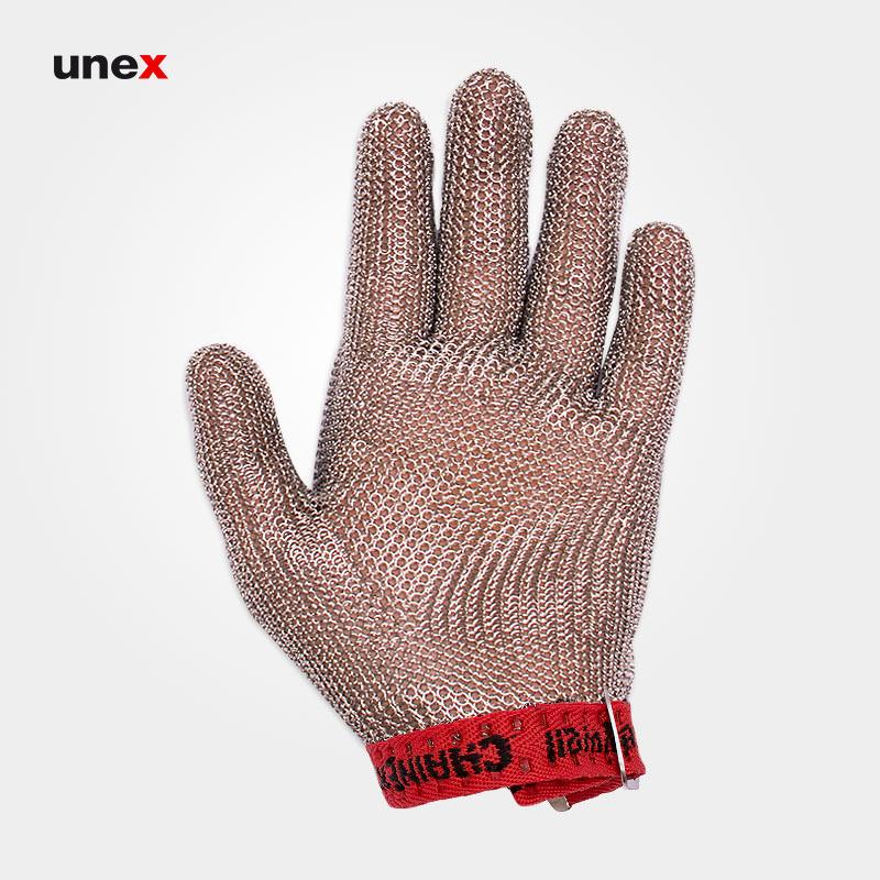 دستکش قصابی ساق کوتاه، اسپریان - SPERIAN، کاناسیف - CANASAFE، دستکش ضد برش، نقره ای، سایز ۳، کانادایی