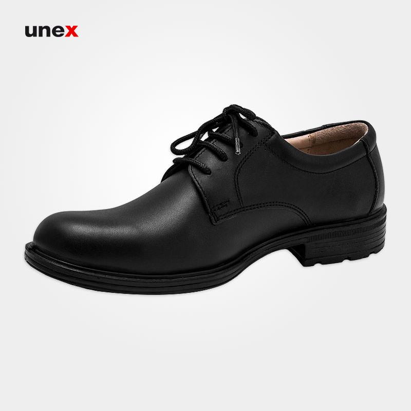 کفش چرمی مردانه ۱۱۰۱ بندی شرانگ، کفش شهپر، کفش اداری، مشکی، سایز ۴۰ تا ۴۵، ایرانی