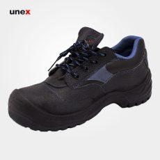 کفش ایمنی گسترش، چرم، زیره پی یو – PU، مشکی، سایز ۴۰ تا ۴۵، ایرانی