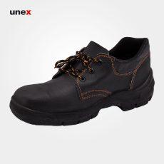 کفش ایمنی تکنیکال ، چرم، زیره پی یو – PU، مشکی ، سایز ۴۰ تا ۴۵، ایرانی