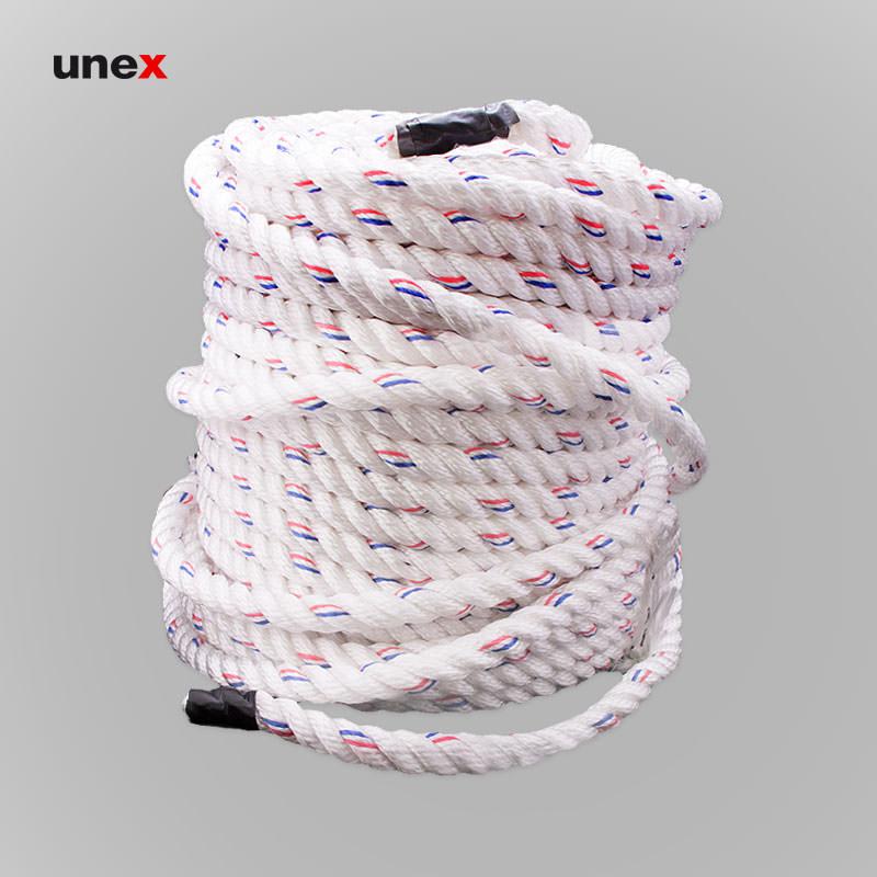 طناب سه رشته ای ابریشمی، نمره ۲۴، ۲۳۰ متری، ابزار ایمنی شهپر، طناب ابریشمی، سفید، کره ای
