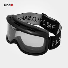 عینک ایمنی گاگل ضد بخار فراری -FERRARI، ابزار ایمنی شهپر، عینک طلقی کشدار، مشکی،  ایرانی