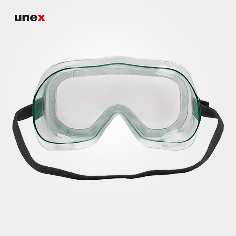 عینک ایمنی گاگل G200 پلی کربنات، ابزار ایمنی شهپر، عینک طلقی کشدار، سبز، ایرانی