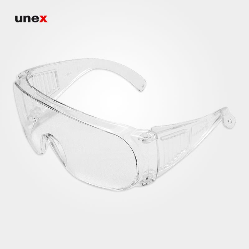 عینک ایمنی پلی کربنات BY20C دسته پنجره ای، ابزار ایمنی شهپر، عینک جوشکاری، بی رنگ، ایرانی