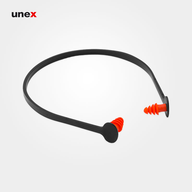 صداگیر ۴ پله تل دار، ابزار ایمنی شهپر، گوشی ایمنی داخل گوش، مشکی - نارنجی، چینی