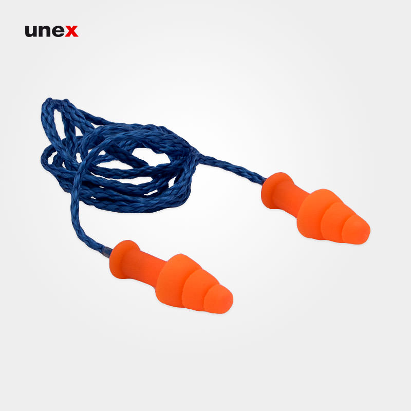 صداگیر ۳ پله، هاوارد لیت – HOWARD LEIGHT، گوشی ایمنی داخل گوش، نارنجی – آبی، چینی