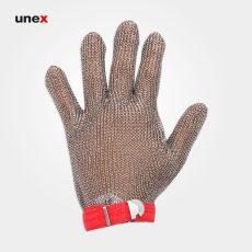 دستکش ضد برش فلزی ساق کوتاه، ابزار ایمنی شهپر، دستکش ضد برش، نقره ای، در سایزهای مختلف، ساخت چین
