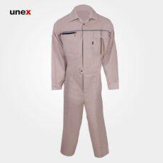 لباس کار یونکس یکسره ۵۵۰ گرم کرمی