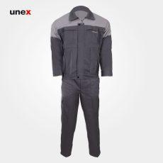 لباس کار کاپشن شلوار ویژه، ابزار ایمنی، لباس کار صنعتی، طوسی – استخونی، ایرانی