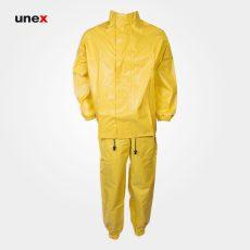 لباس شیمیایی تاکونی نیل پرن دوتکه زرد
