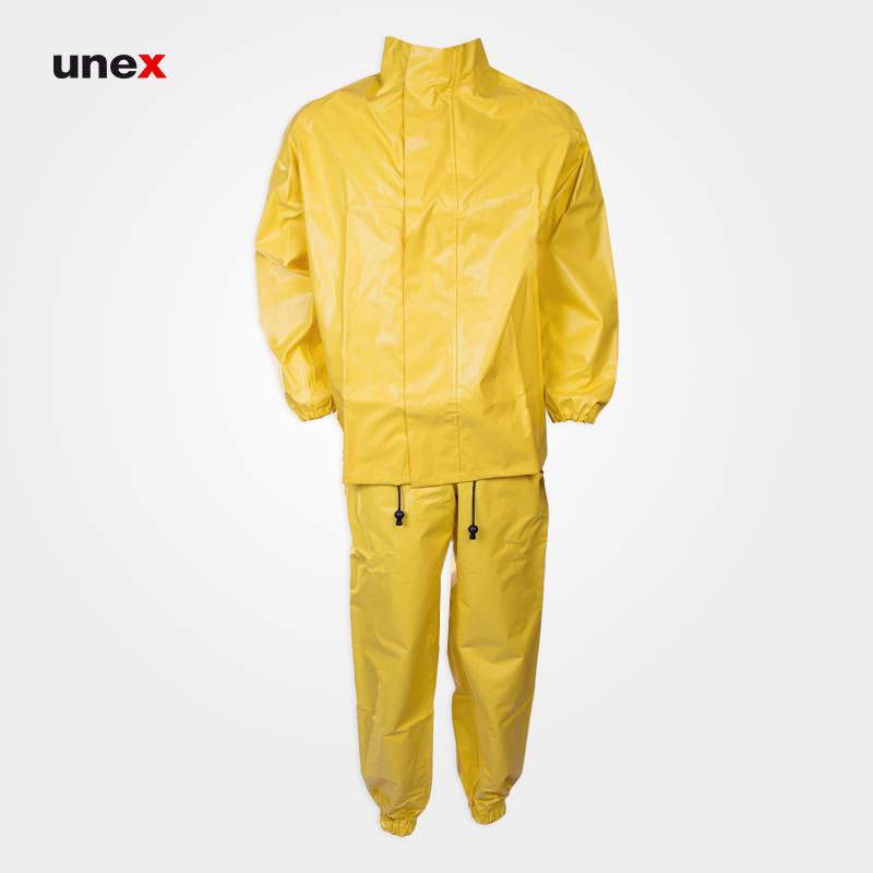 لباس دوتکه شیمیایی نیل پرن – NYLPRENE، تاکونی – TACCONI، لباس کار شیمیایی، زرد، ایتالیایی