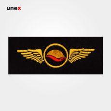 آرم کلاه هواپیمایی کیش، ابزار ایمنی شهپر، آرم، مشکی – طلایی، ایرانی