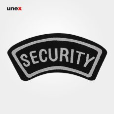 آرم بازو مخصوص نگهبانی (SECURITY)، ابزار ایمنی شهپر، آرم، مشکی- طوسی، ایرانی