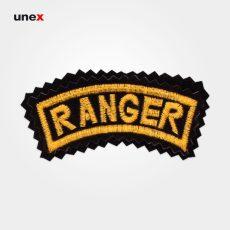 آرم بازو RANGER (رنجر)، ابزار ایمنی شهپر، آرم، مشکی – طلایی، ایرانی