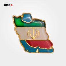 آرم فلزی نقشه ایران، ابزار ایمنی شهپر، بج، ایرانی