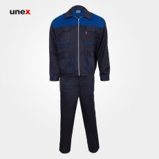لباس کار کاپشن شلوار مهندسی، لباس کار صنعتی، سرمه ای – آبی، ایرانی