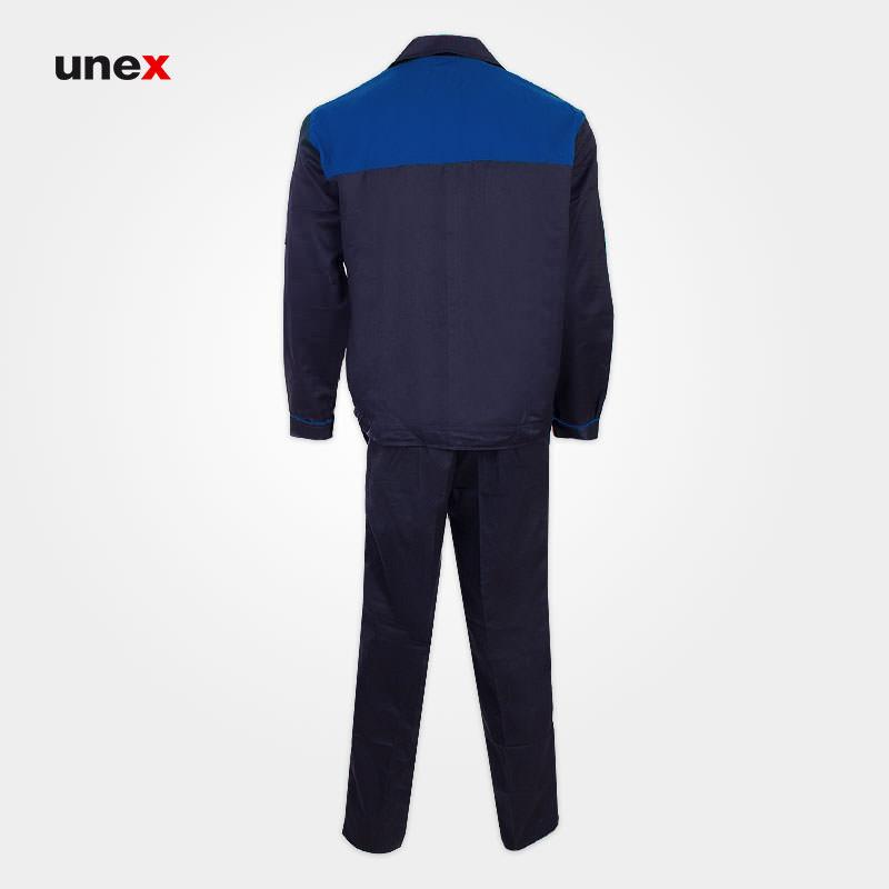 لباس کار کاپشن شلوار مهندسی، لباس کار صنعتی، سرمه ای - آبی، ایرانی