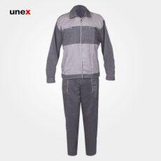 لباس کار کاپشن شلوار مهندسی سیلور، لباس کار صنعتی، طوسی، ایرانی