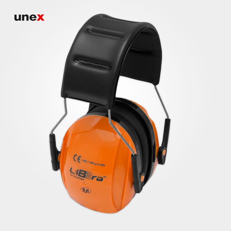 گوشی ایمنی لیبرا - LIBRA، کاناسیف - CANASAFE، گوشی ایمنی روی گوش، مشکی - نارنجی، سایز M