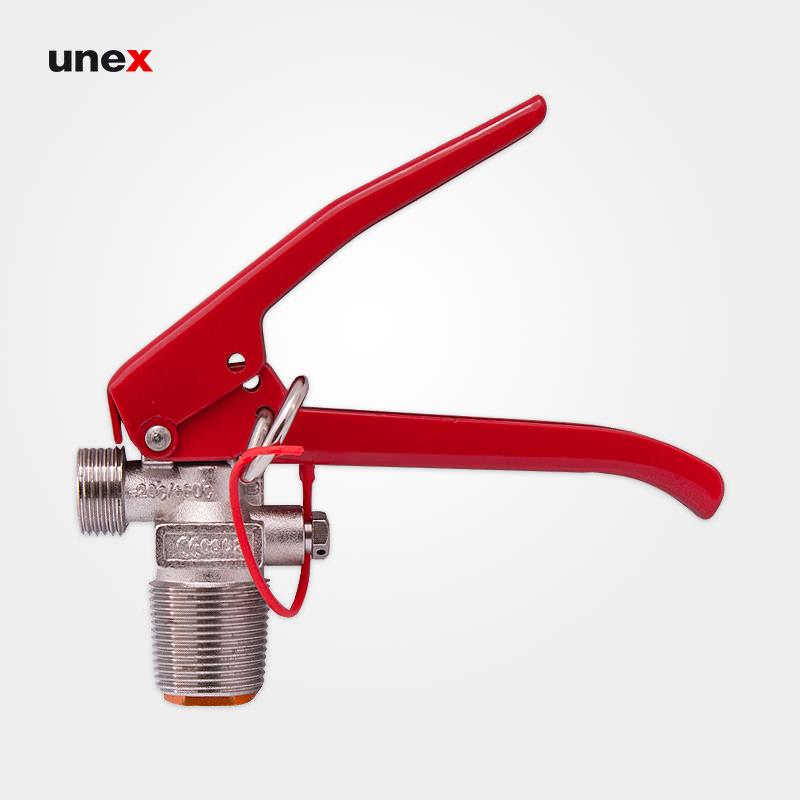 شیر ضامن دار کپسول CO2، فلزی، ابزار ایمنی شهپر، قرمز - نقره ای، ایرانی