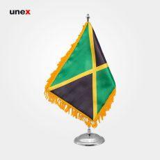 پرچم کشور جامائیکا ۲۰*۳۰ سانتی متر، ابزار ایمنی شهپر، پرچم، ایرانی