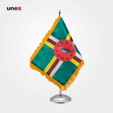 پرچم کشور دومینیکا ۲۰*۳۰ سانتی متر، ابزار ایمنی شهپر، پرچم، ایرانی