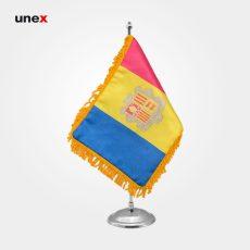 پرچم کشور آندورا ۲۰*۳۰ سانتی متر، ابزار ایمنی شهپر، پرچم، ایرانی