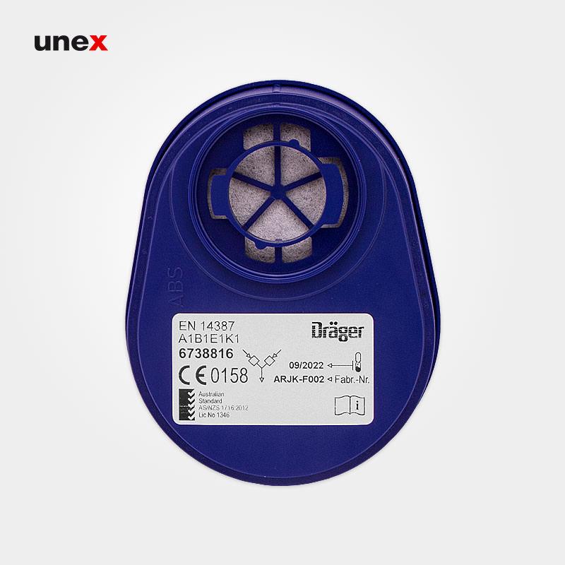 فیلتر ۴ حالته ۳۶۳۸۸۱۶ بایونت - BAYONET، دراگر - DRAGER، فیلترها، آبی، آلمانی