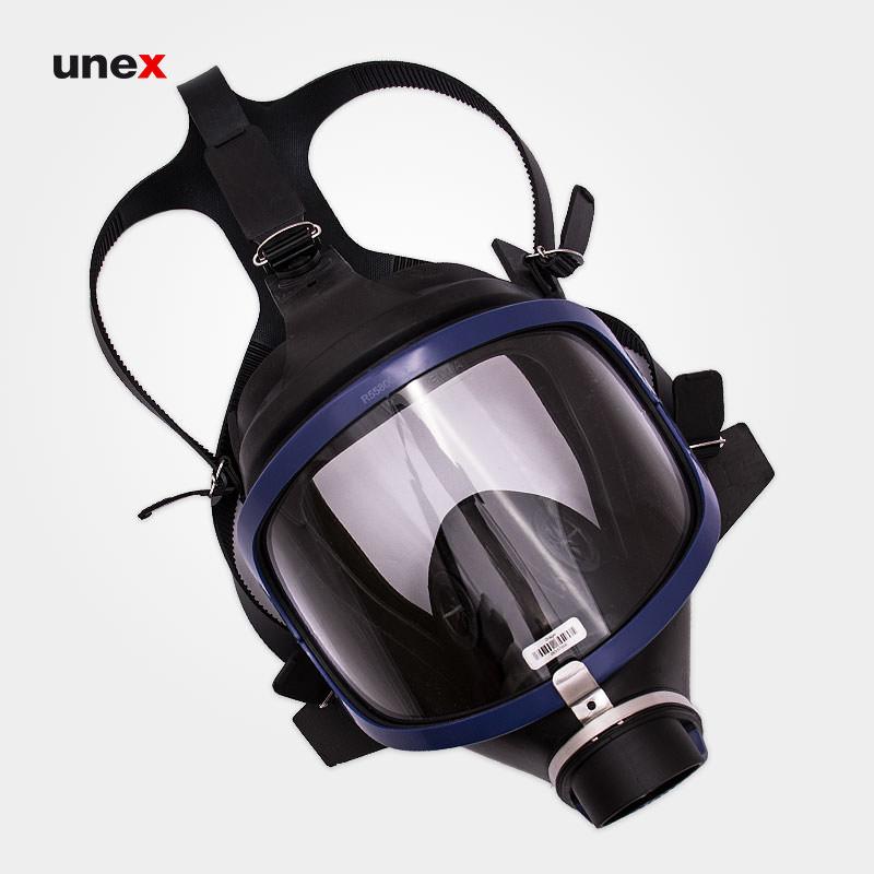 ماسک شیمیایی تمام صورت تک فیلتر X-PLORE 6300، دراگر - DRAGER، ماسک های تمام صورت، مشکی - آبی