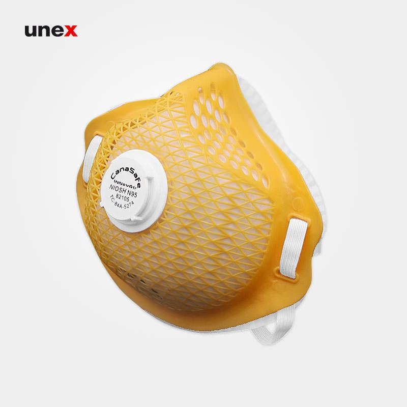 ماسک توری سوپاپ دار ۸۲۱۰۵، کاناسیف - CANASAFE، ماسک های سوپاپ دار، زرد - سفید، کانادا