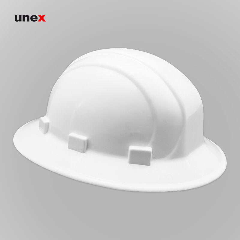 کلاه ایمنی دور گرد لبه دار، آ او - AO، کلاه ایمنی صنعتی، سفید، آمریکایی