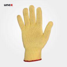 دستکش بافتنی نسوز یونکس کولار – KEVLAR زرد