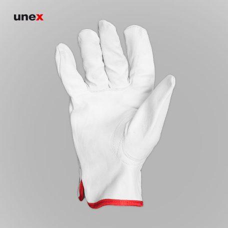 دستکش آرگون ساق کوتاه، ابزار ایمنی شهپر، دستکش چرمی، سفید، پاکستانی