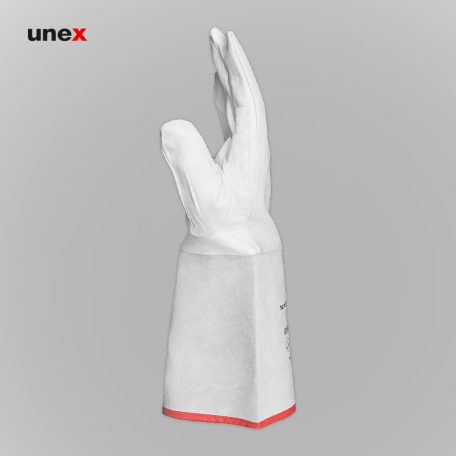 دستکش آرگون ساق بلند،  رینوتک - RHINOTEC، دستکش چرمی، سفید، پاکستانی
