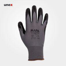 دستکش ضد برش ۵۵۳ ساق کوتاه، ماپا – MAPA، دستکش ضد برش، مشکی – طوسی، سایز ۸ تا  ۱۰
