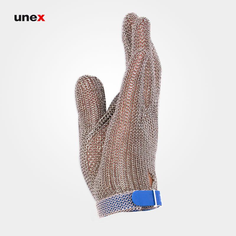 دستکش ضد برش فلزی ساق کوتاه، نیرو فلکس - NIROFLEX، دستکش ضد برش، قصابی، نقره ای، آلمانی