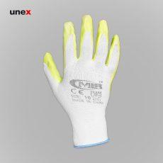دستکش کف مواد MLR سفید سبز