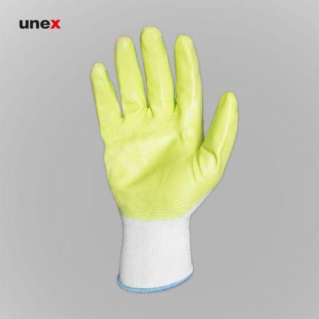 دستکش کف مواد نیتریلی، ام ال آر - MLR، دستکش نیتریلی، سبز - سفید، چینی