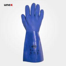 دستکش ۶۶۳-۱۴ EDGE، انسل – ANSELL، دستکش مقاوم شیمیایی، آبی، سایز ۹ و ۱۰