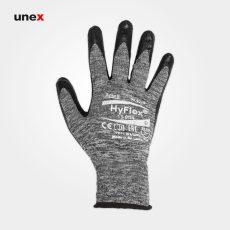 دستکش ۸۰۱-۱۱ ANSELL HY FLEX مشکی طوسی
