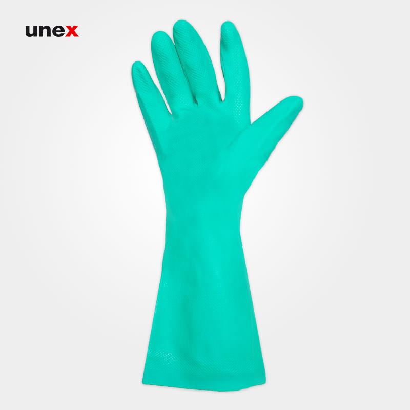 دستکش ۶۹۵-۳۷ سول وکس – SOLVEX، انسل – ANSELL، دستکش نیتریلی، سبز، سایز ۹ و ۱۰